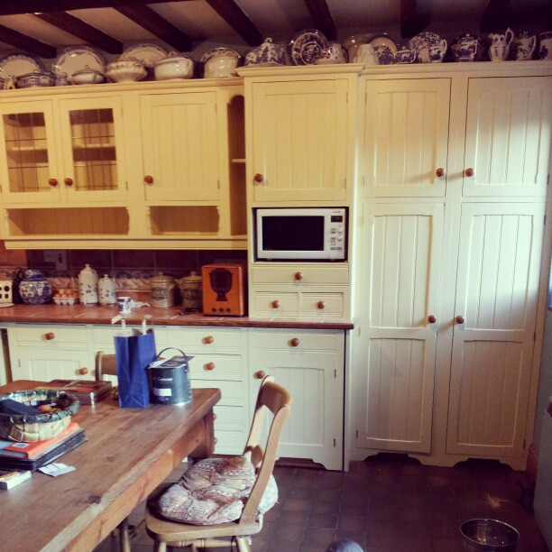 Finished Painted Farmhouse Kitchen