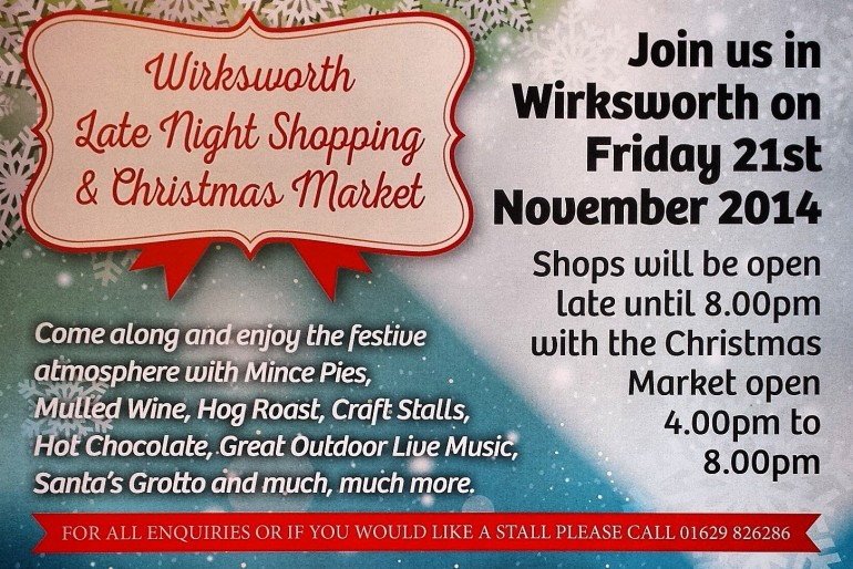 Wirksworth Christmas Late Night Shopping!