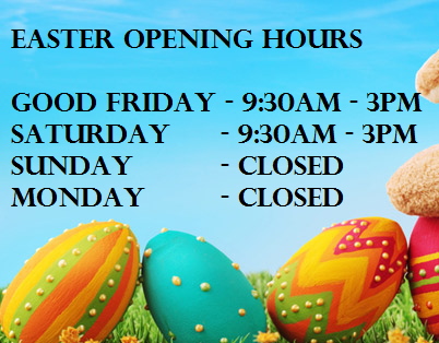 Easter opening hours seymour interiors for Is there any shops open on easter sunday