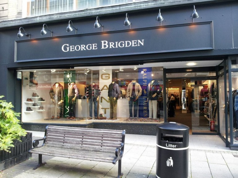 Brigden's in Derby Painted in Farrow & Ball No.95 Black Blue
