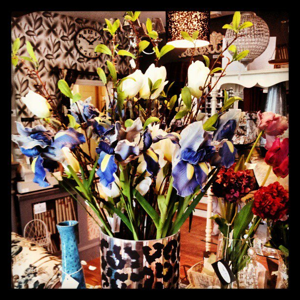 Silk Flowers in the Shop