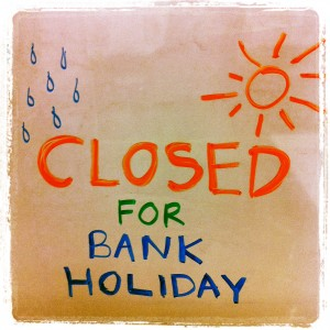 Closed Monday 25th August